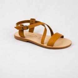 Sandales Dina en Cuir Couleur naturel / Semelle Caoutchouc