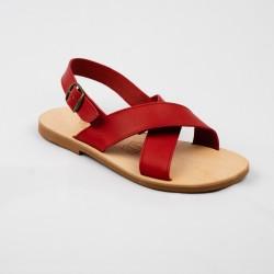 Sandales Enza fiesta rouge / Semelle Caoutchouc