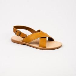 Sandales Enza de couleur naturelle / Semelle Caoutchouc